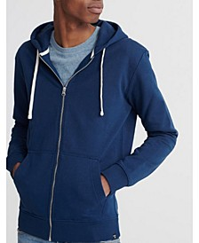 Men's Organic Cotton Standard Label Loopback Zip Hoodie