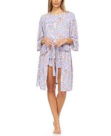 Flora Mandie 3pc Travel Pajama Set