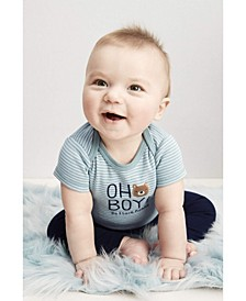 Baby Boys 3-Pc. Oh Boy! Bear Cotton Bodysuits & Pants Set