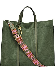 Women's Carmen Tote Suede with Web Strap