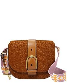 Women's Wiley Saddle Bag Vintage-Like Saddle Woven Emboss