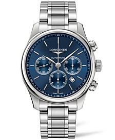 Men's Swiss Automatic Chronograph Master Collection Stainless Steel Bracelet Watch 44mm