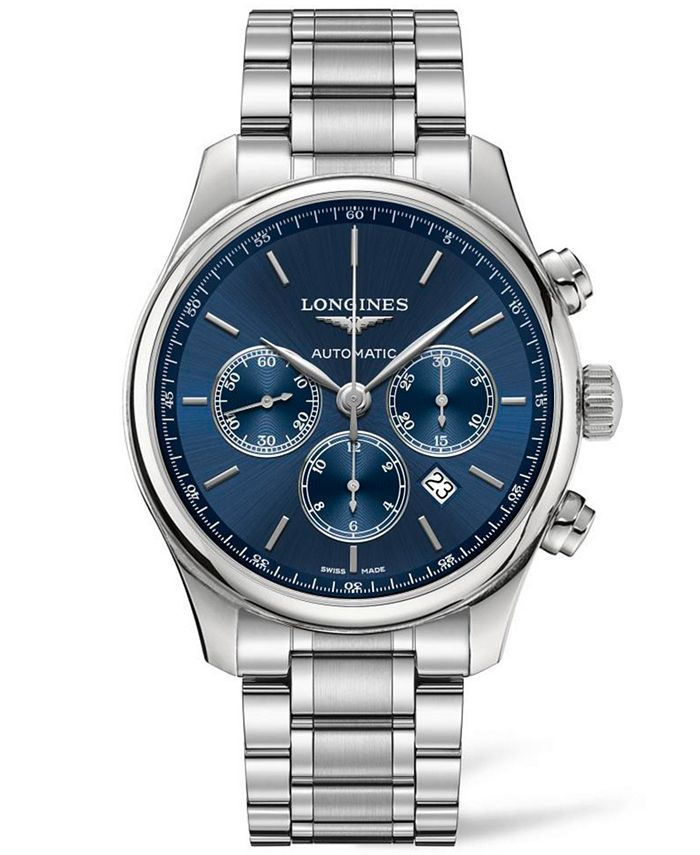 Longines - Men's Swiss Automatic Chronograph Master Collection Stainless Steel Bracelet Watch 44mm