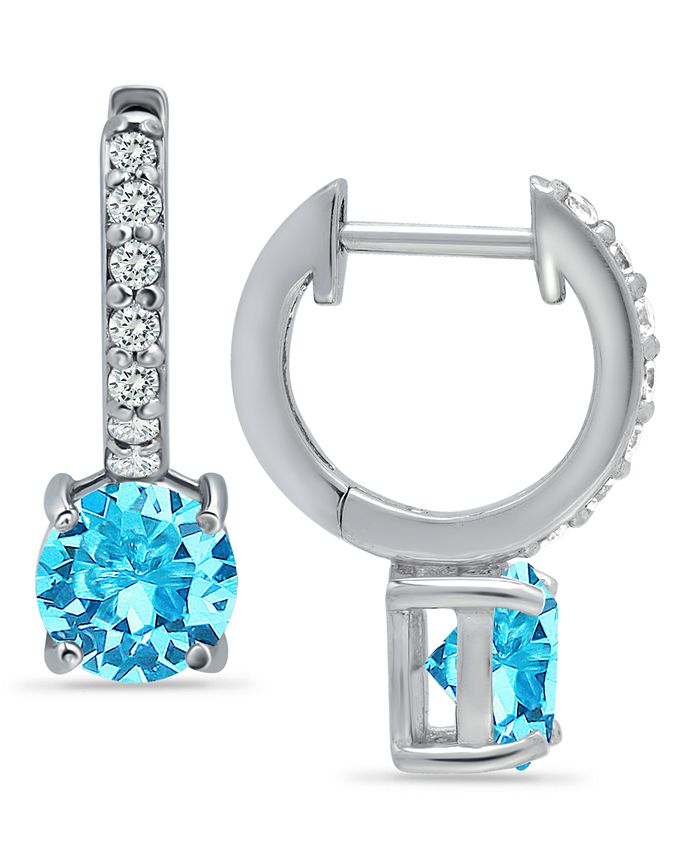 Giani Bernini - Colored Cubic Zirconia Huggie Hoop Earrings in Sterling Silver