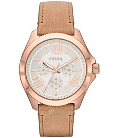 Women's Cecile Brown Leather Strap Watch 40mm