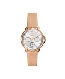 Women's Izzy Blush Leather Strap Watch 35mm