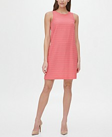 All Over Stripe Sleeveless Dress