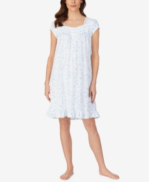 Eileen West KNIT FLORAL PRINT NIGHTGOWN