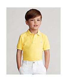 Little Boys Mesh Cotton Polo