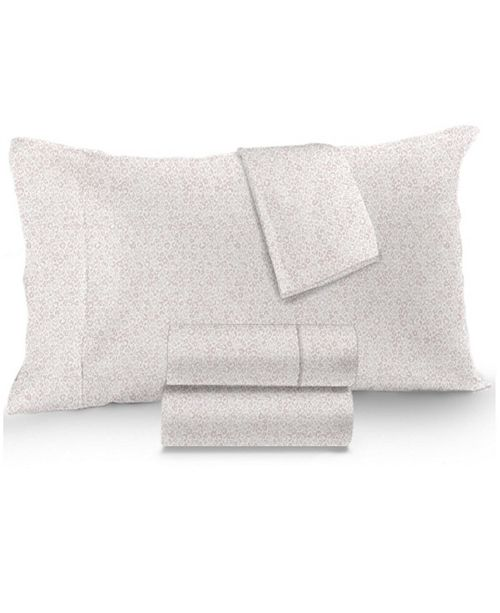 Charter Club Sleep Luxe Cotton 800-Thread Count 4-Pc. Printed Full Sheet Set, Created for Macy's