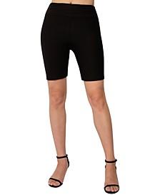 Juniors' High-Waisted Bike Shorts