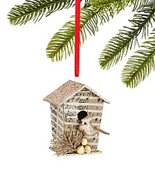 Typescript Paper and Glitter Birdhouse Ornament, Created for Macy's