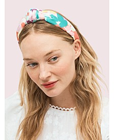 Painted Petals Silk Headband