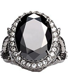 Disney's Maleficent Crystal Statement Ring in Black Rhodium-Plated Sterling Silver