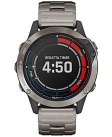 Unisex Quatix 6 Gray Silicone Strap Touchscreen Smart Watch 33mm