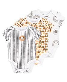 Baby Boys and Girls 3-Pack Short Sleeve Bodysuits