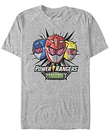 Men's Power Rangers Beast Morphers Helmets Short Sleeve T-Shirt