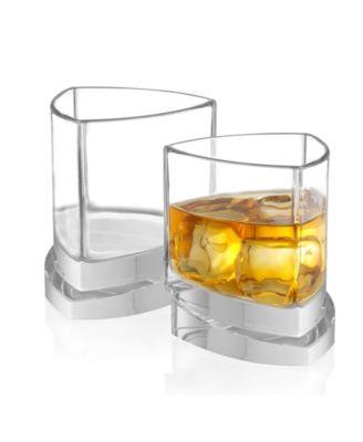 Aqua Vitae Off Base Triangle Whiskey Glasses, Set of 2