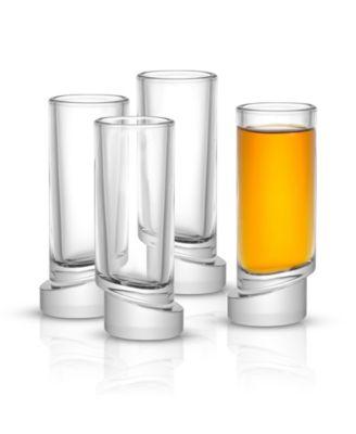 Aqua Vitae Off Base Round Shot Glasses, Set of 4