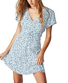 Woven Marissa Gathered Front Mini Dress