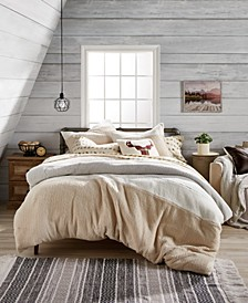 Colorblock Sherpa Comforter Sets