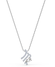 """Two-Tone Crystal Zodiac Pendant Necklace, 16-1/2"""" + 2"""" extender"""