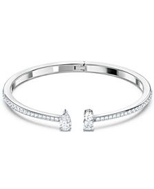 Silver-Tone Crystal Cuff Bracelet
