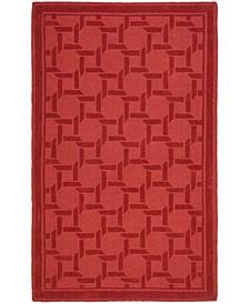 Resort Weave MSR4549B Red 4' x 6' Area Rug