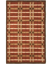 Color Weave Plaid MSR3613D Terracotta 9' x 12' Area Rug