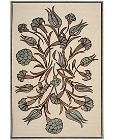 "Floral Arabesque MSR4447B Ivory 7'10"" x 11'2"" Area Rug"
