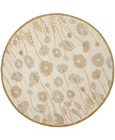 Poppy Glossary MSR3627C Brown 6' x 6' Round Area Rug