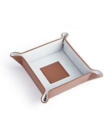 ROYCE New York Suede Lined Catchall Valet Tray