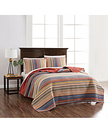 Martha Stewart Collection Hillside Manor Yarn Dye King Quilt, Created for Macy's