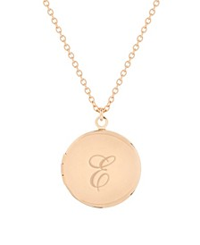14K Rose Gold Plated Isla Initial Long Locket Necklace