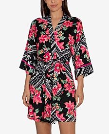 Marabel Patch Wrap Robe