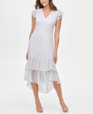 1930s Day Dresses, Afternoon Dresses History Tommy Hilfiger Tiered High-Low Dress $129.00 AT vintagedancer.com
