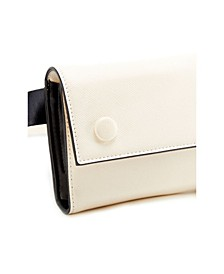 Two-Tone Envelope Belt Bag