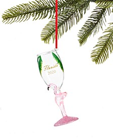 Florida Champagne Glass with Flamingo Ornament, Created for Macy's