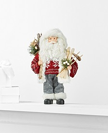 Standing Santa with Ski and Gift Bag, Created for Macy's