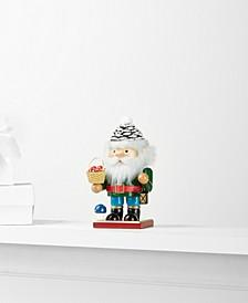 Pint Size Pinecone Santa with Mushroom Basket Nutcracker, Created for Macy's