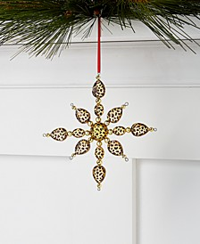 Safari Leopard Print Snowflake, Created for Macy's