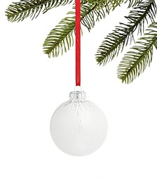Snowdaze Glass Ball Ornament, Created for Macy's