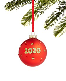 Santa's Favorites 2020 Glass Ball with Christmas Tree Ornament, Created for Macy's