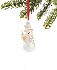 Shimmer & Light Snowman with Tree Ornament, Created for Macy's