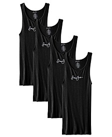 Men's Rib Tank, Pack of 4