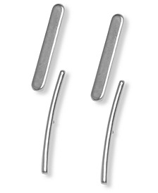 Silver-Tone 2-Pc. Set Bar Stud Earrings