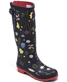 Women's Printed Wellies Tall Height Rain Boots from Finish Line