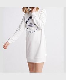 Women's Applique Sweat Dress