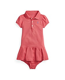 Baby Girls Pique Polo Dress and Bloomer
