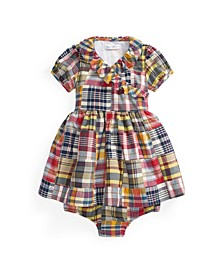 Baby Girls Wrap Dress and Bloomer
